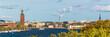 city skyline of Stockholm, Sweden on a sunny summer day