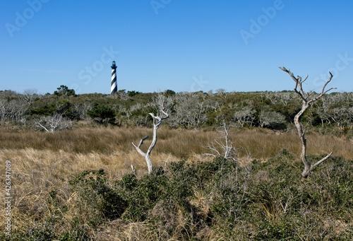 Photo Cape Hatteras Lighthouse near Buxton on Hatteras Island in North Carolina