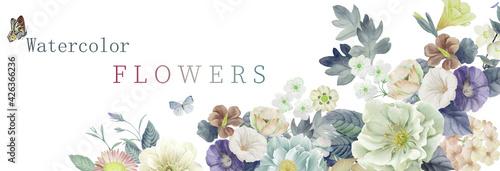 Illustration of flower - fototapety na wymiar