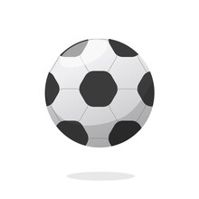 Football Or Soccer Ball Icon Vector Clipart Isolated On White Background