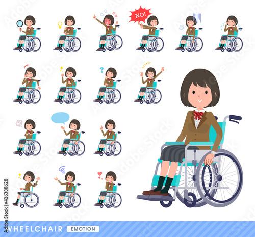 Slika na platnu flat type school girl beige Blazer_wheelchair-emotion