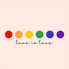 LGBT Pride Month In June.LGBT Flag,rainbow. Love Is Love Concept.