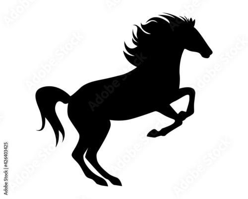 Fototapeta Horse vector silhouette