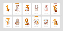 Baby Milestone Cards With Cute Animals And Numbers For Newborn Girl Or Boy. 1-11 Months And 1 Year. Baby Shower Print Capturing All The Special Moments. Baby Month Anniversary Card. Nursery Print