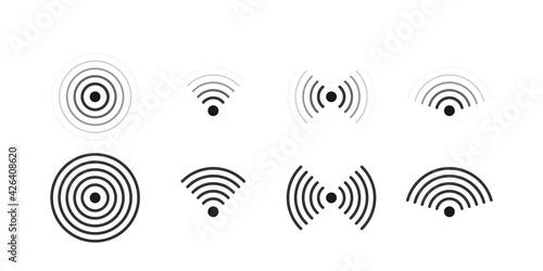 Obraz na plátně Wifi signal icons set illustration