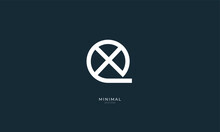 Alphabet Letter Icon Logo QX Or XQ