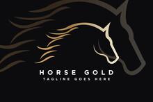 Beauty Horse Ranch Stable Stallion Logo Design