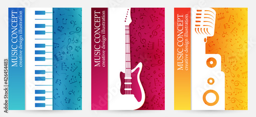 Photo Creative colorful music poster