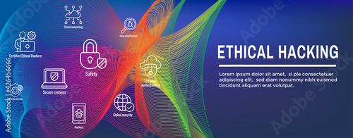 Tela Certified Ethical Hacker - CEH - icon set & web header banner