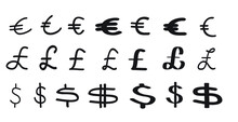 Euro Pound Dollar Symbols