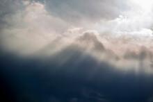 Blue Sky With Clouds, Stockholm, Sverige,sweden, Årsta