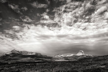 Clouds & Mountains;  Glacier NP;  Montana