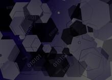 Purple And Black Random Hexagon Shape Background