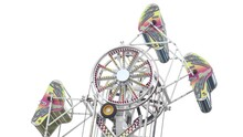 Zipper Spinging Carnival Ride