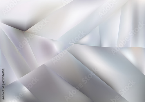 Carta da parati Geometric Abstract Grey and White Background