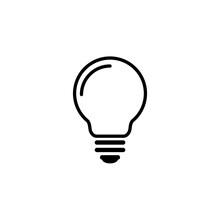 Light Bulb Icon Vector Illustration Design
