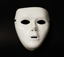 Theatrical Mask Set At An Angle To Give The Viewer An Impression Of Eye Movement.