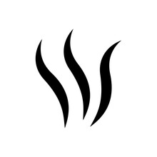 Smell Icon. Cooking Steam Or Warm Aroma Smell Mark, Steaming Vapour Odour Symbols. Moke Steam Silhouette Icon Illustration.