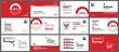 Presentation and slide layout background. Design red and black geometric template. Use for business keynote, presentation, slide, marketing, leaflet, advertising, template, modern style.