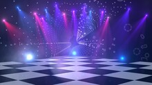 Virtual Dance Floor Disco Lights Background 1
