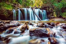 Beautiful Waterfall In Jungle, Chiang Mai Thailand