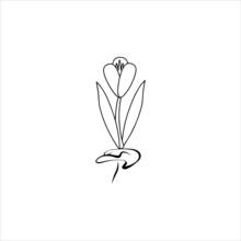Vector - Flower Flora Fragant Garden Thin Line.eps