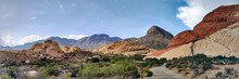 Panoramic Shot Of Red Rock Canyon National Conservation Area In Nevada
