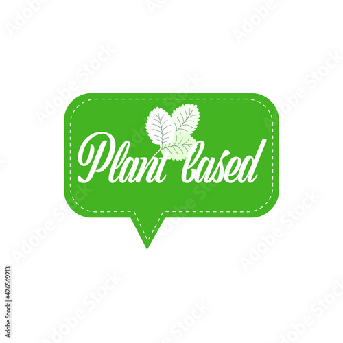 plant based natural product sticker organic healthy vegan market logo fresh food emblem badge design flat