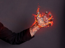 Hand Magically Burning - Concept Of Power