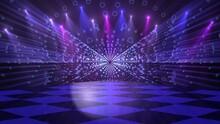 Disco Dance Floor Background