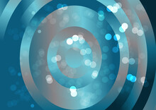 Blue And Brown Gradient Concentric Circles Background Graphic
