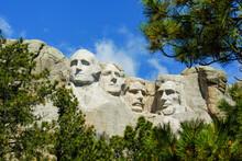 Closeup Shot Of The Mount Rushmore National Memorial Keystone In The USA