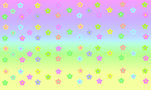 Flowers On Colorful Bright Pastel Colors Background Gradient Wallpaper Rainbow Unicorn Fantasy Magic Summer Wallpapers