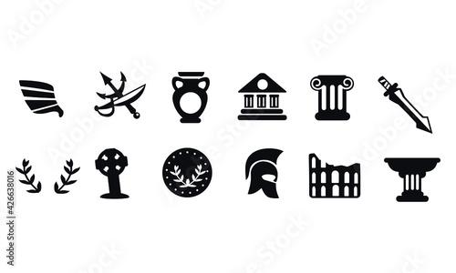 Slika na platnu Ancient Rome Symbols vector design