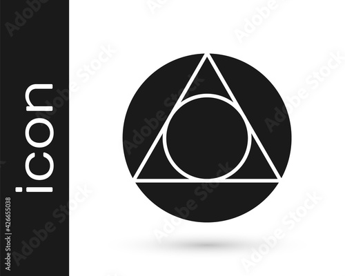 Black Triangle math icon isolated on white background. Vector Wallpaper Mural