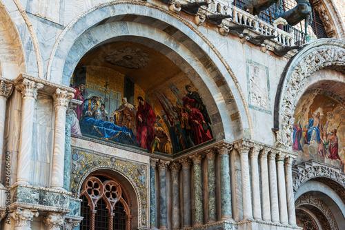 Tela St Mark's Campanile in Venice, ITALY