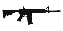 M4 Assault Rifle Silhouette
