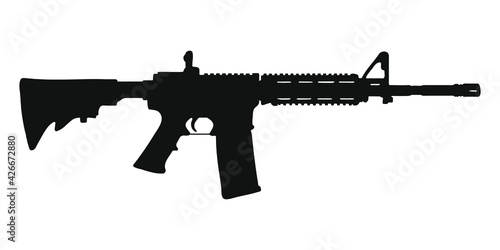 Fotografie, Obraz M4 assault rifle silhouette