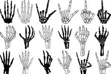 Skeleton Hand SVG Cut Files | Skeleton SVG | Skeleton Rock Hand Silhouette Bundle