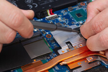 Disassemble The Laptop With A Screwdriver To Repair The Cooling System, Cooler