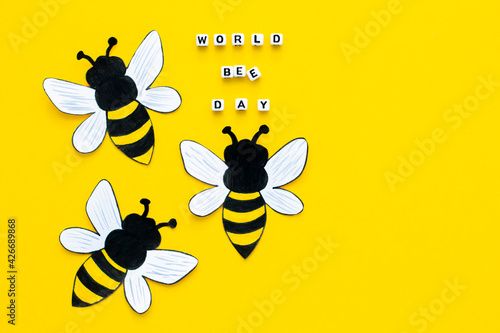 World bee day on 20th of May Fototapeta