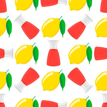 Illustration On Theme Big Colored Lemonade In Lemon Jug