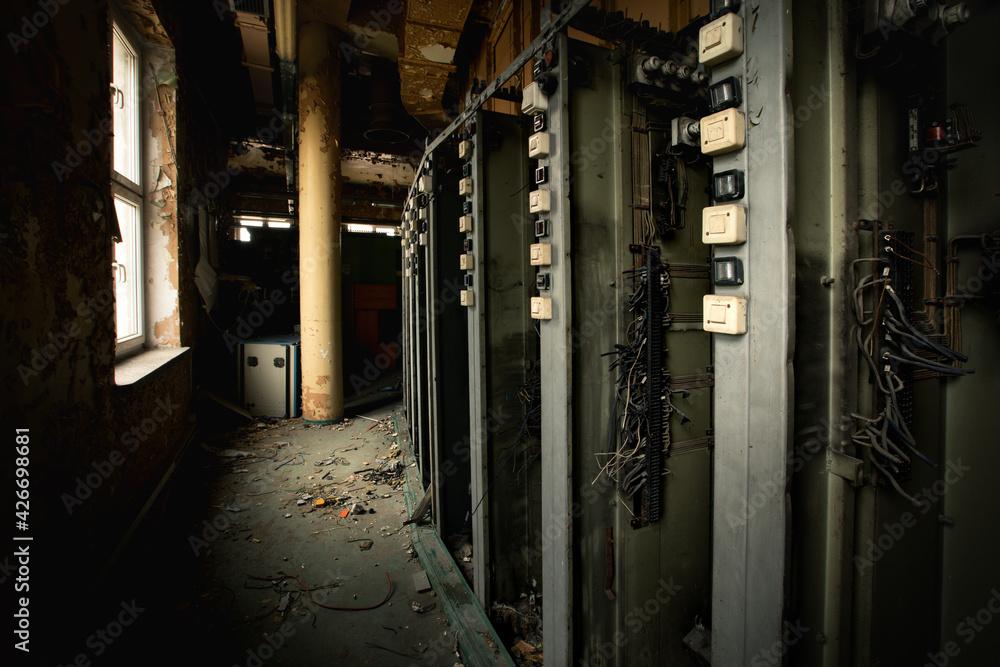 Fototapeta old abandoned factory