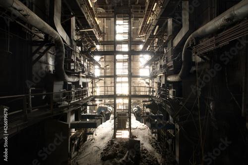 Fototapeta old abandoned factory obraz