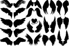 Angel Wings SVG Cut Files   Fairy Wings Silhouette Bundle