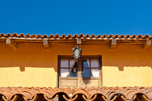 Fragment Of An Old Building With Red Tile Roofs In Puerto Vallarta, Jalisco, Mexico