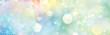 canvas print picture - Banner Blume des Lebens in einem leuchtenden Lichtermeer funkelnder Farbvielfalt