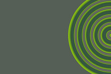 Green Circular Pattern On A Gray Background