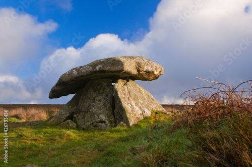 Tablou Canvas Chun Quoit, an ancient stone burial chamber in west Cornwall, UK.
