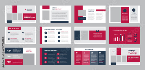 Canvas Business Presentation Brochure Guide Design or Pitch Deck Slide Template or Sale
